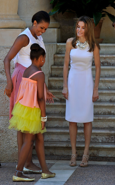 Princess Letizia - Spanish Royals Meet Michelle Obama in Mallorca