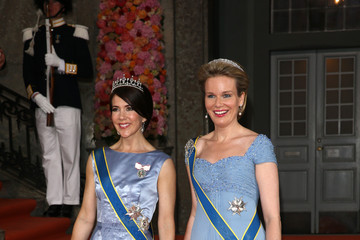 Princess Mary Departures & Cortege: Wedding of Prince Carl Philip and Princess Sofia of Sweden