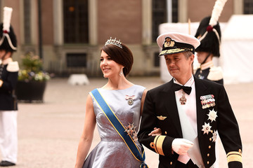Princess Mary Ceremony And Arrivals: Wedding of Prince Carl Philip of Sweden and Sofia Hellqvist