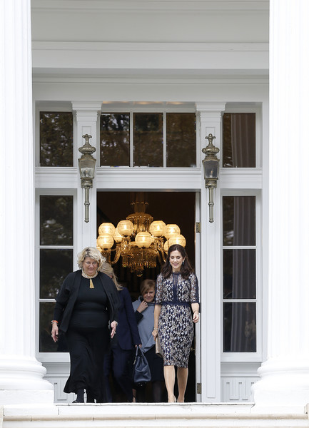 HRH The Crown Princess Of Denmark Visits Austin And Houston, Texas [photograph,people,yellow,snapshot,door,window,photography,house,architecture,home,hrh,princess mary of denmark,greg abbott,royal highness,texas,houston,governors mansion,austin,denmark visits austin]