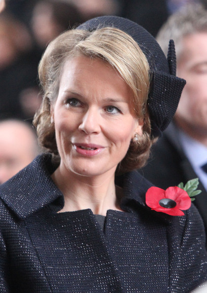 Princess Mathilde Of Belgium Attends Last Post Ceremony On Armistice Day [mathilde of belgium attends last post ceremony on armistice day,hair,face,hairstyle,blond,lady,beauty,eyebrow,chin,premiere,lip,princess,mathilde of belgium,menen gate,belgium,ypres,last post ceremony,armistice day]