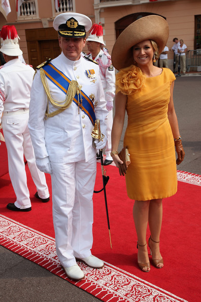 Princess Maxima Prince Willem Alexander of the Netherlands and Princess Maxima of the Netherlands attend the religious ceremony of the Royal Wedding of Prince Albert II of Monaco to Princess Charlene of Monaco in the main courtyard at the Prince's Palace on July 2, 2011 in Monaco. The Roman-Catholic ceremony follows the civil wedding which was held in the Throne Room of the Prince's Palace of Monaco on July 1. With her marriage to the head of state of the Principality of Monaco, Charlene Wittstock has become Princess consort of Monaco and gains the title, Princess Charlene of Monaco. Celebrations including concerts and firework displays are being held across several days, attended by a guest list of global celebrities and heads of state.