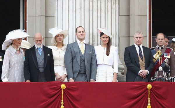 Trooping the Colour 2017 [trooping the colour,event,ceremony,government,michael,princess,gabriella windsor,frederick windsor,andrew,michael of kent,duke,l-r,kent]