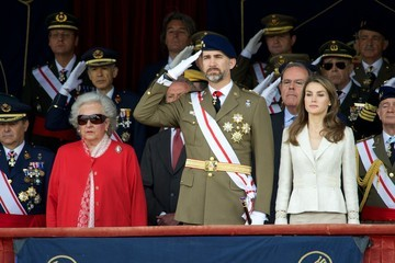 Princess Pilar de Borbon Spanish Royals Attend the Flag Ceremony in Madrid