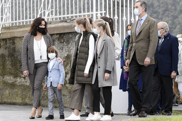 Princess Sofia Queen Letizia of Spain Spanish Royals Visit Somao