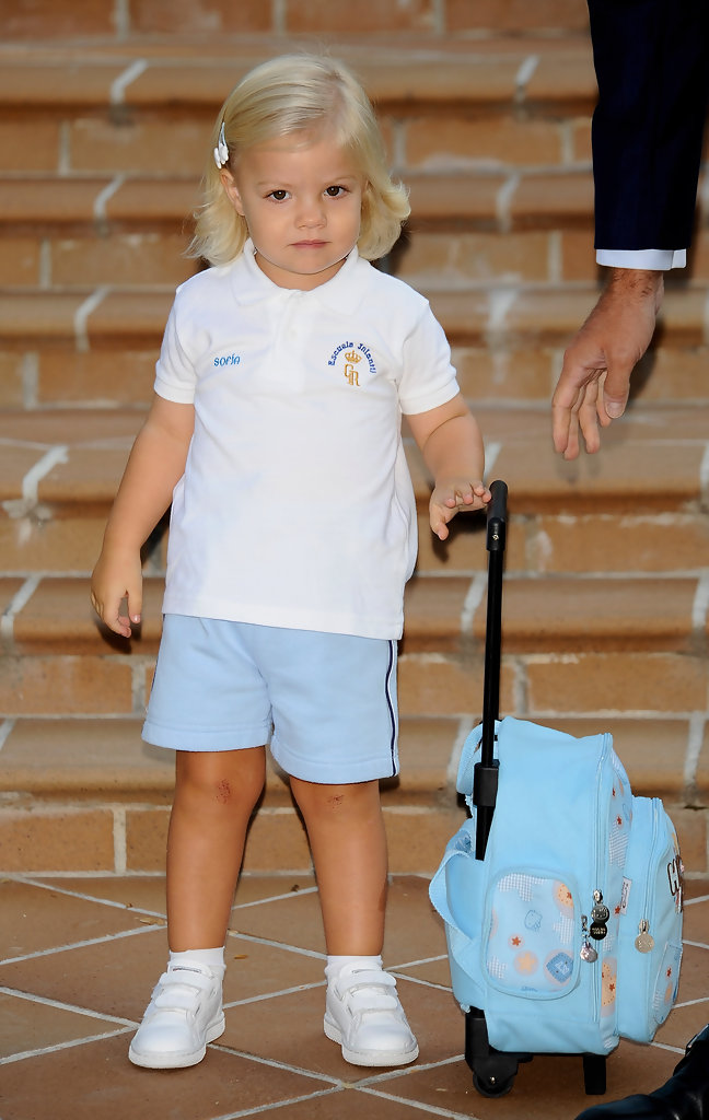 Infanta Sofia, now 11, stole everyone's hearts in this snapshot taken on her first day of kindergarten.