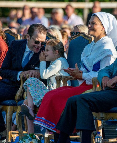 The Crown Princess Victoria Of Sweden's Birthday Celebrations [people,audience,event,community,crowd,sitting,human,recreation,competition event,leisure,victoria,estelle,daniel,time,sweden,borgholm,oland,idrottsplatsen,birthday celebrations,birthday celebrations]