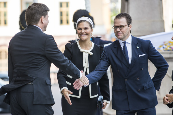 Swedish Royals Attend The Opening Of The Parliamentary Session [suit,white-collar worker,event,formal wear,businessperson,gesture,interaction,conversation,tuxedo,smile,swedish,sweden,swedish parliament house,stockholm,the opening of the parliamentary session,session,opening,victoria,royals,daniel]