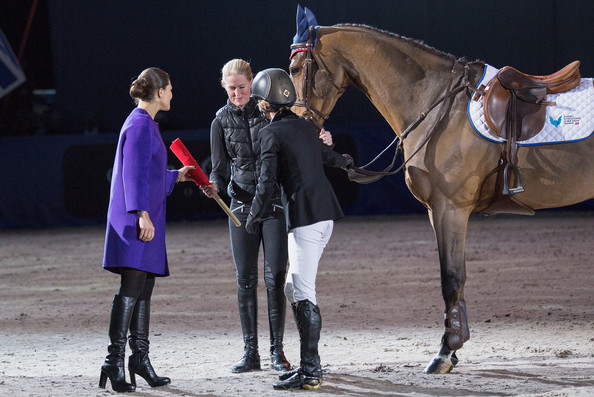 Princess Victoria Crown Princess Victoria of Sweden (L) attends Sweden International Horse Show 2014 at Friends Arena on November 28, 2014 in Stockholm, Sweden.