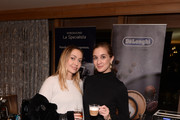 "Brandi Cyrus (L) attends a private reception during Sundance 2020 for ""The Evening Hour"" hosted by RAND Luxury at The St. Regis Deer Valley on January 27, 2020 in Park City, Utah."