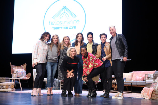 Hello Sunshine x Together Live - Chicago [social group,red,event,youth,community,fashion,performance,stage,team,design,jennifer rudolph walsh,glennon doyle,abby wambach,cameron esposito,priya parker,reese witherspoon,sophia bush,luvvie ajayi,chicago,hello sunshine]