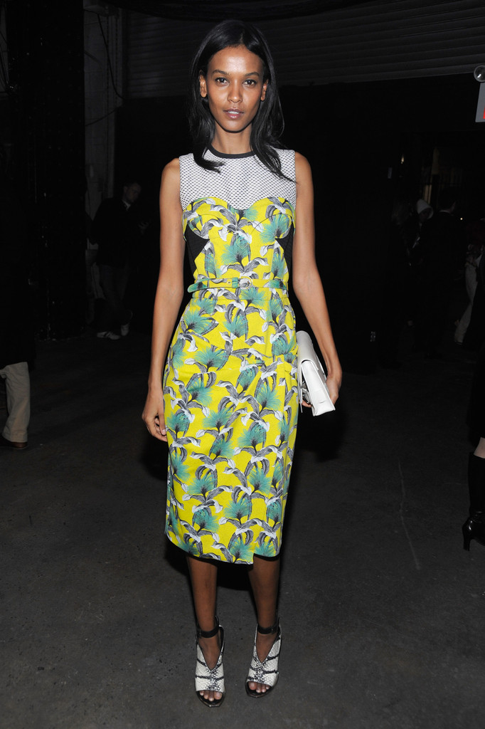 Model Liya Kebede attends the Proenza Schouler Fall 2012 fashion show during Mercedes-Benz Fashion Week on February 15, 2012 in New York City.