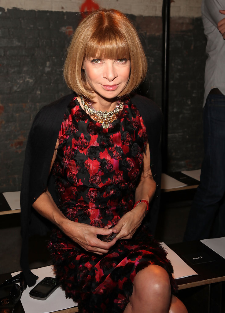 Anna Wintour Banned Ariana Grande From Wearing Ponytail: Anna Wintour In Proenza Schouler