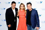 (L-R) Project Angel Food Executive Director Richard Ayoub, Julia Stambler and Charlie Sheen attend Project Angel Food's 23rd Annual Angel Art ART=LOVE Benefit Auction at NeueHouse Hollywood on June 23, 2018 in Los Angeles, California.