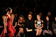 (L-R) Lifetime CEO Andrea Wong, singer Faith Hill, designer Michael Kors, model Heidi Klum and Project Runway producer Desiree Gruber attend Project Runway Fall 2010 fashion show during Mercedes-Benz Fashion Week on February 12, 2010 in New York, New York.