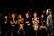 (L-R) Lifetime CEO Andrea Wong, singer Faith Hill, Fashion Director of Elle and Marie Claire Nina Garcia, designer Michael Kors, model Heidi Klum and Project Runway producer Desiree Gruber attend Project Runway Fall 2010 fashion show during Mercedes-Benz Fashion Week on February 12, 2010 in New York, New York.