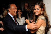 Fawaz Gruosi (L) and Cheryl Cole attend the launch party for 'Promise', a new capsule ring collection created by Cheryl Cole and de Grisogono, at Nobu London on September 29, 2010 in London, England.