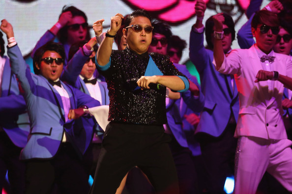 Psy Psy performs 'Gangnam Style' onstage at the MTV EMA's 2012 at Festhalle Frankfurt on November 11, 2012 in Frankfurt am Main, Germany.