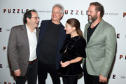 """Michael Barker, Director Marc Turtletaub, Kelly Macdonald and David Denman attend the """"Puzzle"""" New York Screening at The Roxy Cinema on July 24, 2018 in New York City."""