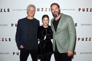 """Director Marc Turtletaub, Kelly Macdonald and David Denman attend the """"Puzzle"""" New York Screening at The Roxy Cinema on July 24, 2018 in New York City."""