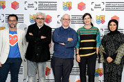 (L-R)  Doha Film Institute Senior Programmer Chadi Zeneddine, Doha Film Institute Artistic Advisor Elia Suleiman, multi award-winning screenwriter, director and leading US indie producer James Schamus, Qumra Deputy Director Hanaa Issa and Doha Film Institute CEO Fatma Al Remaihi, at a screening of 'Crouching Tiger, Hidden Dragon' on day one of Qumra, an industry event by the Doha Film Institute dedicated to the development of emerging filmmakers on March 4, 2016 in Doha, Qatar.
