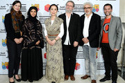 Qumra Deputy Director Hanaa Issa, Doha Film Institute CEO Fatma Al Remaihi, Japanese auteur Naomi Kawase, moderator Jean-Michel Frodon, Doha Film Institute Artistic Advisor Elia Suleiman and Doha Film Institute Senior Programmer Chadi Zeneddine attend a screening of 'The Mourning Forest' in her role as Qumra Master in Doha on day three of Qumra, an industry event by the Doha Film Institute dedicated to the development of emerging filmmakers on March 6, 2016 in Doha, Qatar.