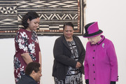 Queen Elizabeth II visits the 'Fiji: Art & Life in the Pacific' exhibition at the Sainsbury Centre for Visual Arts at the University of East Anglia on January 27, 2017 in Norwich, England.