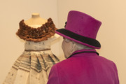 Queen Elizabeth II looks at exhibits as she visits the 'Fiji: Art & Life in the Pacific' exhibition at the Sainsbury Centre for Visual Arts at the University of East Anglia on January 27, 2017 in Norwich, England.
