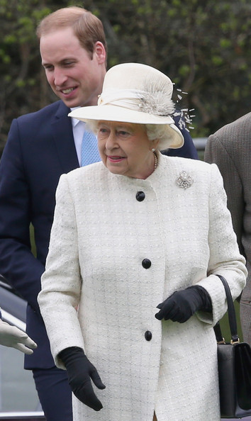 Prince William, Duke of Cambridge and Queen Elizabeth II attend the Windsor Greys Statue unveiling on March 31, 2014 in Windsor, England. The statue marks 60 years of The Queen's Coronation in 2013 and the important role played by Windsor Greys in the ceremonial life of the Royal Family and the Nation.