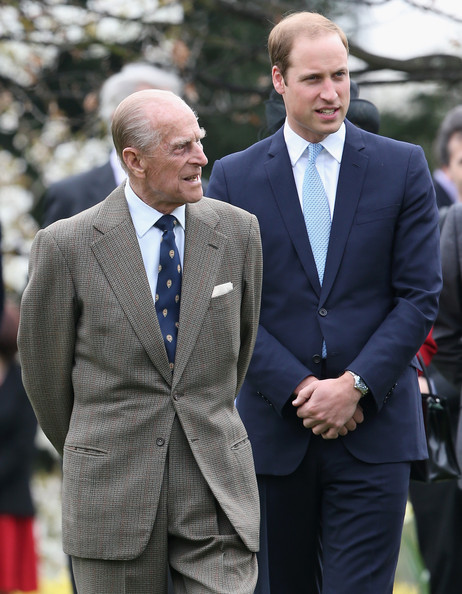 Prince William, Duke of Cambridge and Prince Phillip, Duke of Edinburgh attend the Windsor Greys Statue unveiling on March 31, 2014 in Windsor, England. The statue marks 60 years of The Queen's Coronation in 2013 and the important role played by Windsor Greys in the ceremonial life of the Royal Family and the Nation.