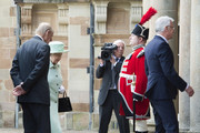 Queen Elizabeth II and Prince Philip, Duke of Edinburgh visit Hillsborough Castle on June 27, 2016 in Belfast, Northern Ireland.