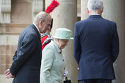 Queen Elizabeth II and Prince Philip, Duke of Edinburgh arrive for a visit to Hillsborough Castle on June 27, 2016 in Belfast, Northern Ireland.