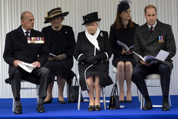 Queen Elizabeth II British Royal Family And Government Mark The Gallipoli Centenary At The Cenotaph