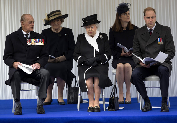 British Royal Family And Government Mark The Gallipoli Centenary At The Cenotaph [event,uniform,official,white-collar worker,philip,elizabeth ii,prince william,c,gallipoli,government,the cenotaph,british royal family,mark the gallipoli centenary,campaign]