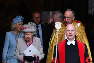Queen Elizabeth II Camilla Parker Bowles The Queen And The Duchess Of Cornwall Attend A Service Marking  The 750th Anniversary Of Westminster Abbey