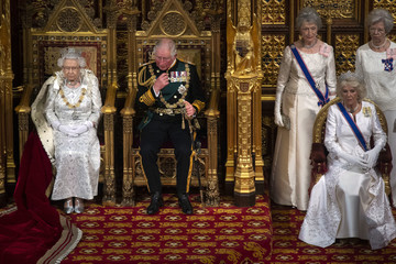 Queen Elizabeth II Camilla Parker Bowles State Opening Of Parliament