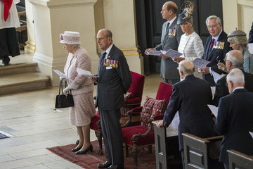 Queen Elizabeth II Countess of Wessex Britain Commemorates the 70th Anniversary of VJ Day