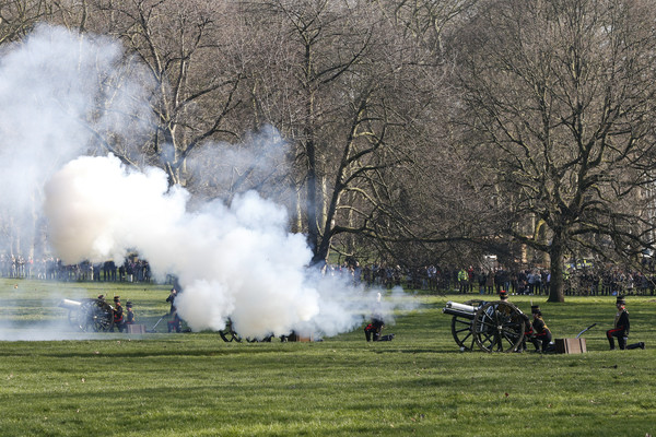 HM The Queen's Accession To The Throne Anniversary Gun Salute