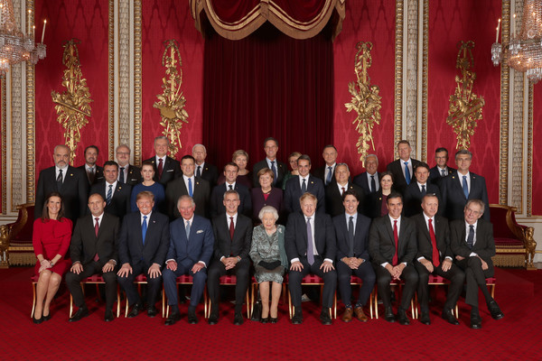 HM The Queen Hosts NATO Leaders At Buckingham Palace Banquet