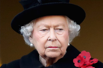 Queen Elizabeth II Wreaths Are Laid At The Cenotaph On Remembrance Sunday