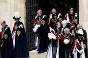 (L-R) Prince Edward, Duke of Kent, Princess Anne, Princess Royal, Prince Andrew, Duke of York, Prince Charles, Prince of Wales, Prince William, Duke of Cambridge, Prince Edward, Earl of Wessex and Prince Richard, Duke of Gloucester leave after attending the annual Order of the Garter Service at St George's Chapel, Windsor Castle on June 18, 2011 in Windsor, England. The Order of the Garter is the senior and oldest British Order of Chivalry, founded by Edward III in 1348. Membership in the order is limited to the sovereign, the Prince of Wales, and no more than twenty-four members.