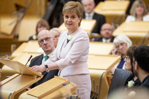 HM Queen And The Duke Of Rothesay Attend Ceremony To Mark The Scottish Parliament [the duke of rothesay attend ceremony to mark the scottish parliament,handout,yellow,event,student,employment,job,convention,learning,meeting,management,nicola sturgeon,queen,elizabeth ii,ken macintosh,speech as.,hm,scottish parliament,celebrations]