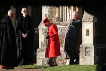 Queen Elizabeth II Prince Charles The Royal Family Attend Church On Christmas Day