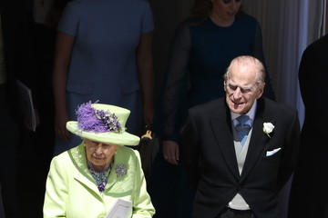 Queen Elizabeth II Prince Philip Prince Harry Marries Ms. Meghan Markle - Procession