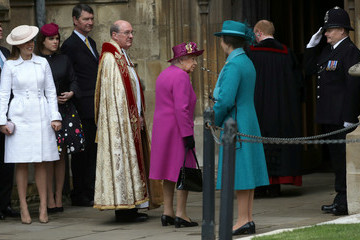 Queen Elizabeth II Princess Beatrice The Royal Family Attend Easter Service At St George's Chapel, Windsor