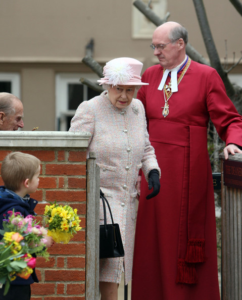 The Royal Family Attend The Easter Matins Service At Windsor Castle [the royal family,bishop,pope,clergy,nuncio,cope,event,cardinal,auxiliary bishop,tradition,elizabeth ii,children,service,flowers,windsor castle,grounds,england,easter matins service,easter day]