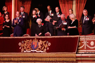 Queen Elizabeth II Theresa May The Royal Family Attend The Festival Of Remembrance