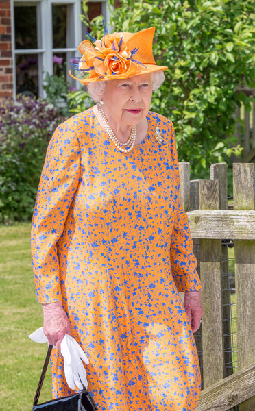 Queen Elizabeth II Visits Duchy of Lancaster Farms in Staffordshire
