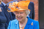Queen Elizabeth II arrives at Lower Castle Hayes farm, one of the Duchy of Lancaster Farms  on May 25, 2017 in Staffordshire, United Kingdom.