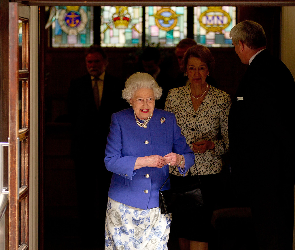 Queen Elizabeth II Visits Prince Philip In Hospital